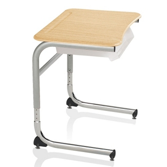 Adjustable Height Cantilever Laminate Top Desk , 14040