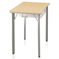 "Four-Leg Hard Plastic Top Desk - 27""H, 14045"