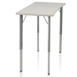 Adjustable Height Four-Leg Laminate Top Desk , 14050