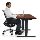 """Adjustable Height Sit Stand Desk - 24""""W x 72""""D , 41653"""