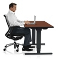 "Adjustable Height Sit Stand Desk - 24""W x 60""D , 41652"