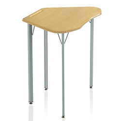 "Plastic Top Trapezoid Student Desk - 25""H, 41846"