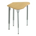 Adjustable Height Plastic Top Trapezoid Student Desk , 41848