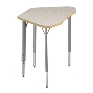 Adjustable Height Laminate Top Trapezoid Student Desk , 41849