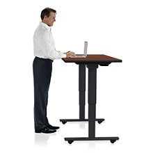 "Height Adjustable Mobile Table 72""W x 24""D, 41903"