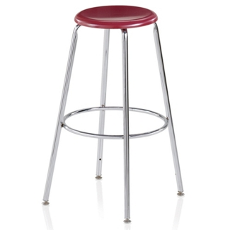 """Student Stool with Hard Plastic Seat - 24""""H, 50030"""