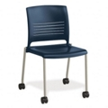 Armless Polypropylene Chair with Casters, 51017