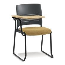 Right Flip Up Tablet Arm Chair with Fabric Seat, 51497