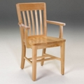 Wood Library Chair with Arms, 51503