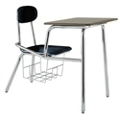 Student Chair Desk with Plastic Flat Top and Book Basket, 51525