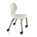 "Four Leg Student Chair with Casters - 15""H Seat, 57088"