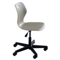 "Adjustable Height Student Task Chair with Casters - 16.5""-21.5""H Seat, 57092"