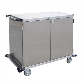 "Lakeside 43""x39"" Stainless Steel Closed Case Cart, 31824"