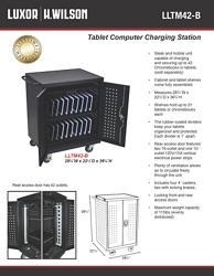 """Locking 42 Tablet Charging Cart - 36.75""""H, 60027"""