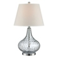 Clear Glass Table Lamp with Shade, 87270