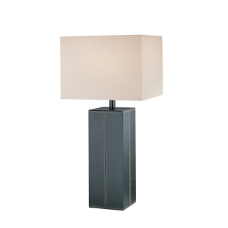 Dark Brown Leather Table Lamp, 91145