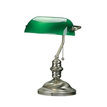 Antique Brass Bankers Lamp, 91151