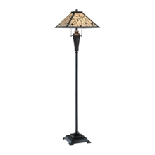 Tiffany Style Floor Lamp with Glass Shade, 91159
