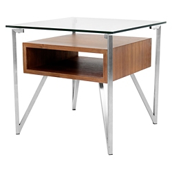 Floating Glass Top End Table, 46204