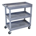Gray Three Shelf High Capacity Tub Cart, 36507