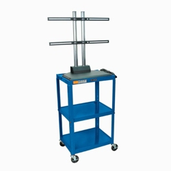 Adjustable Height Steel TV Cart, 43212