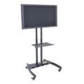 Adjustable Height Mobile Rotating Flat Panel TV Stand with Shelf, 43244