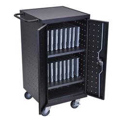 """Mobile Charging 18 Slot Tablet Storage Cart- 39.75""""H, 43396"""