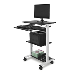 Three-shelf Height Adjustable Workstation, 43457