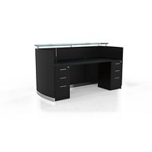 """Reception Station with Two File Drawers - 87.25""""W, 10097"""