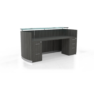 """Reception Station with Three File Drawers - 87.25""""W, 10098"""