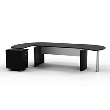 "Contemporary L-Desk with Left Return - 116""W x 63""D, 10100"