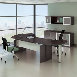 """Complete Contemporary L-Desk Office Set - 116""""W x 63""""D, 13791"""