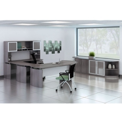 "Complete Contemporary U-Desk Office Set - 119""W x 104""D, 13792"