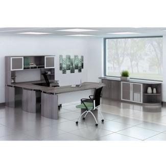"Complete Contemporary U-Desk Office Set - 119""W x 104""D, 13792"
