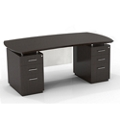 "Double Pedestal Executive Desk with Modesty Panel - 72""W, 14092"