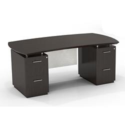 "Double File Pedestal Executive Desk with Modesty Panel - 72""W, 14093"