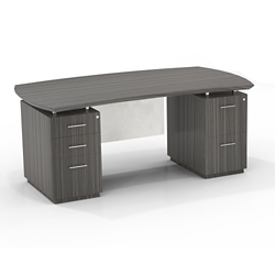 """Double Mixed Pedestal Executive Desk with Modesty Panel - 72""""W, 14094"""
