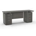 """Double Pedestal Credenza with Modesty Panel - 72""""W, 14095"""
