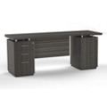 """Double Mixed Pedestal Credenza with Modesty Panel - 72""""W, 14097"""