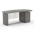 "Right Pedestal Desk with Modesty Panel - 66""W, 14100"