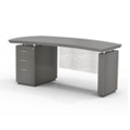"Left Pedestal Desk with Modesty Panel - 66""W, 14104"