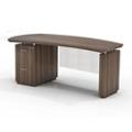 "Left File Pedestal Executive Desk with Modesty Panel - 72""W, 14103"
