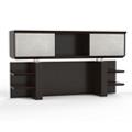 """Four Shelf Hutch with Acrylic Doors - 72""""W, 14116"""
