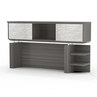 "Two Shelf Hutch with Acrylic Doors - 72""W, 14117"