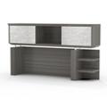 """Two Shelf Hutch with Acrylic Doors - 72""""W, 14117"""