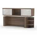 """Two Shelf Hutch with Acrylic Doors - 66""""W, 14118"""