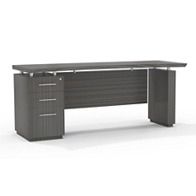 "Reversible Pedestal Credenza with Modesty Panel - 72""W, 14121"