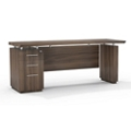 "Reversible Pedestal Credenza with Modesty Panel - 66""W, 14107"