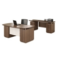 Bowfront Desk and Credenza, 14123