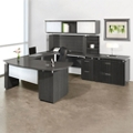 Right Bridge U-Desk with Hutch and Storage, 14126